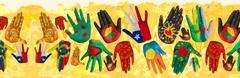 Banner con Dibujo de Manos en colores